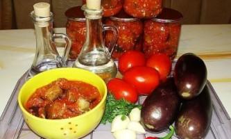 Баклажани консервовані, в томатному соусі - відео рецепт