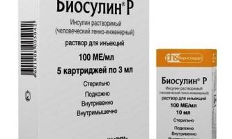 Біосулін р інструкція із застосування