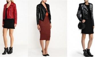 Брутальна жіночність від lamoda: плаття + шкіряна куртка - тренд осені 2015