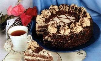 """Готуємо торт """"кава, вершки, шоколад"""""""