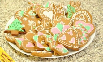 Імбирні різдвяні пряники (покроковий рецепт з фото)