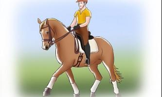 Як підніматися під час їзди риссю на коні
