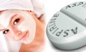 Як зробити маску для обличчя з аспірином