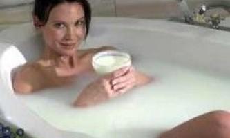Яка користь молочної ванни?