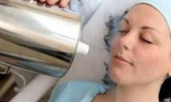 Криомассаж особи із застосуванням рідкого азоту