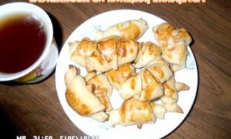Круасанчики (секрети приготування листкового тіста) - рецепт
