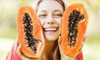 Маски для обличчя з папайя