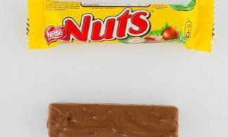 """Nuts ( """"натс"""") - шоколад від компанії nestle, який """"заряджає мізки"""""""
