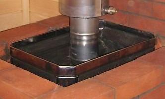 Піч з цегли з котлом для опалення приватного будинку