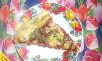 Піца з фаршем по-російськи (покроковий рецепт з фото)