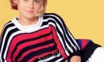 Смугастий пуловер-кімоно