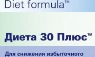 Препарат для схуднення дієта 30 плюс