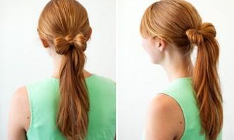 Зачіска бант на хвості