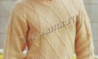Пуловер з візерунком з ромбів