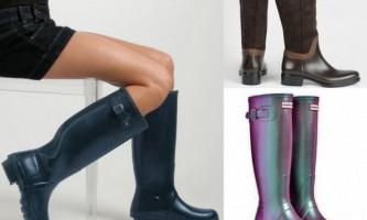 Гумові чоботи - модний осінній тренд
