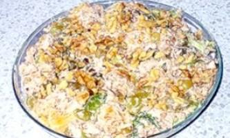 Салат з курки з виноградом - рецепт