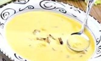 Суп-пюре з кукурудзи з мідіями