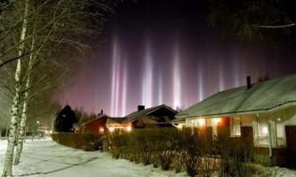 Світлові стовпи в небі - що це таке?