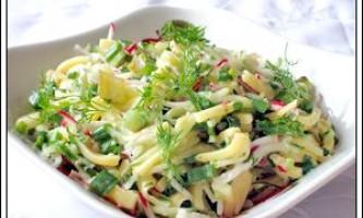 Сирний салат з редискою - рецепт