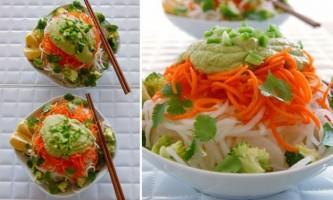 Тайський салат з дайконом і мигдально-імбирним соусом