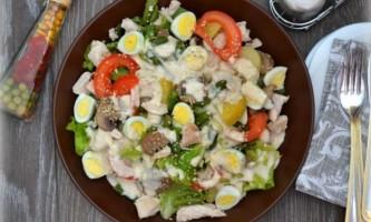 Теплий овочевий салат