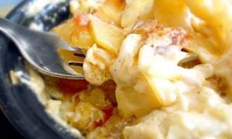 Запіканка з картоплі з кабачками і помідорами в горщиках - рецепт