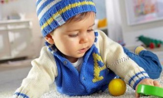 Жакет і шапочка для малюка